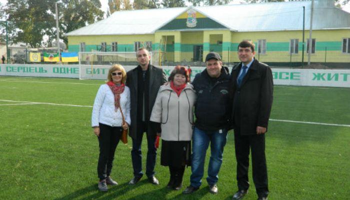 На открытие нового стадиона Ингульца прибыло руководство ПФЛ и ААФУ, фото fc-ap.com.ua