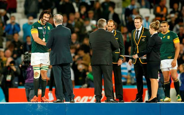 Церемония награждения игроков ЮАР, Reuters
