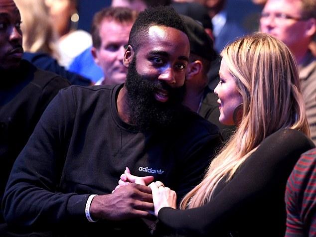 Харден и звезда реалити-шоу Хлоя Кардашьян, фото Getty Images