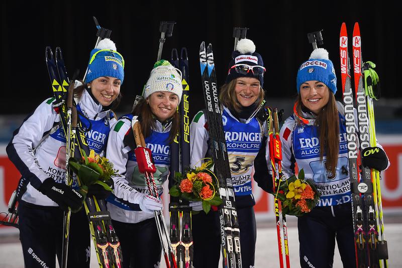 В прошлом сезоне эстафетная четверка Италии выиграла бронзу на чемпионате мира, biathlonworld.com