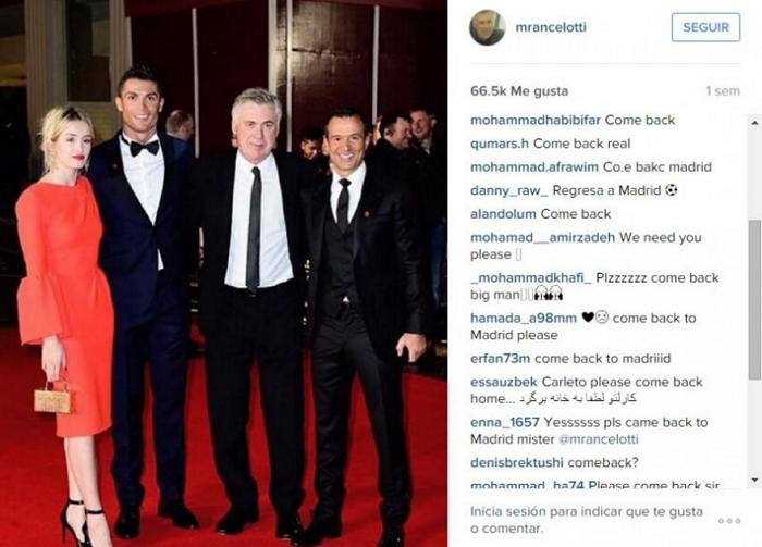 Болельщики Реала просят Карло Анчелотти вернуться, instagram.com/mrancelotti