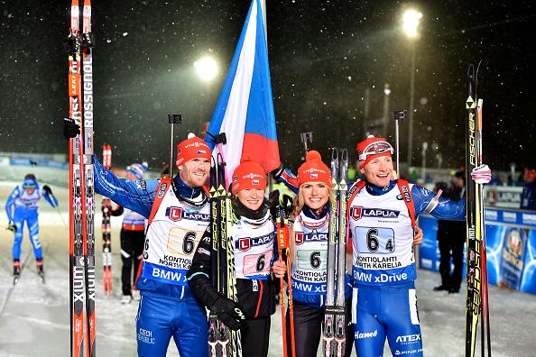 Выиграв золото на чемпионате мира в Контиолахти, смешанная эстафетная четверка чехов еще раз продемонстрировала свой перевес над соперниками, Getty Images