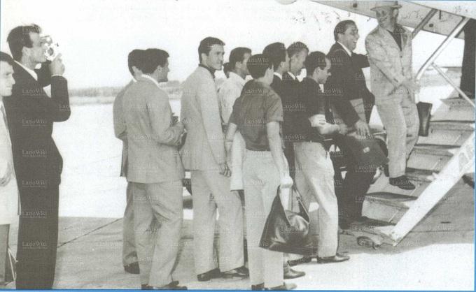 Лацио отправляется в турне по советской Украине, фото laziowiki.org