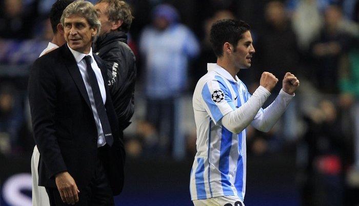 Иско и Мануэль Пеллегрини, UEFA.com