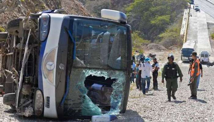 В Венесуэле перевернулся автобус Уракана (обновлено)