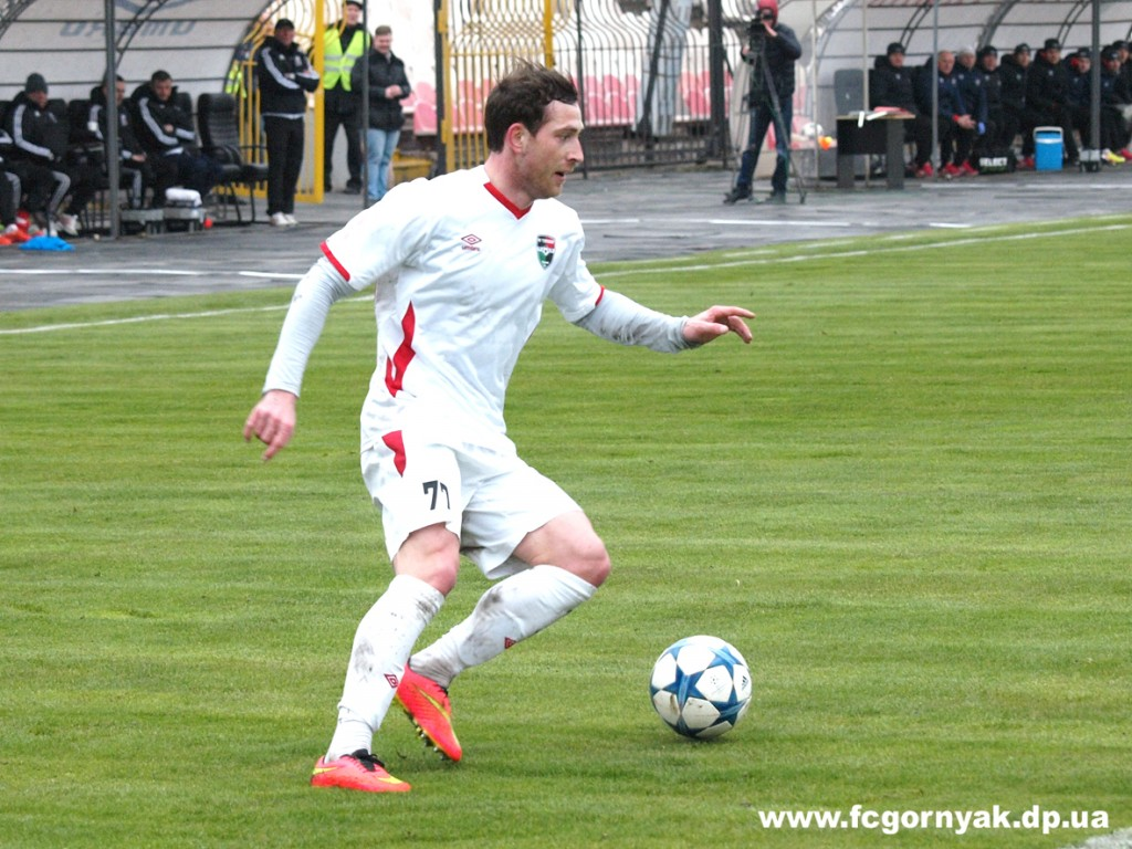 Марат Даудов забивает уже за шестой клуб первой лиги, фото fcgornyak.dp.ua