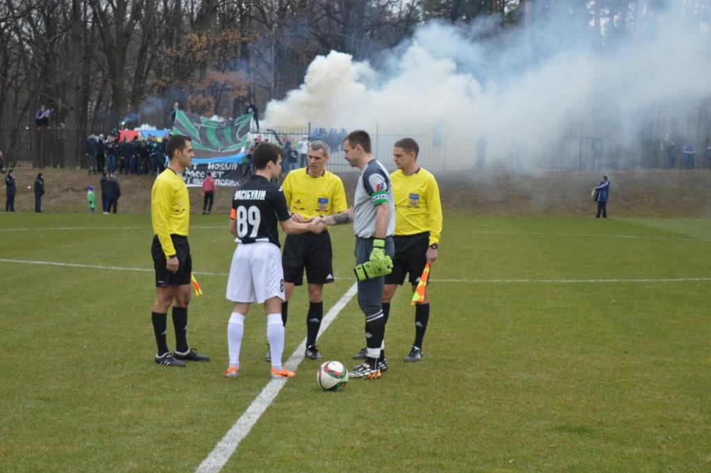 Ультрас ФК Полтава смотрели матч из лесу, фото vk.com/fcpoltava1