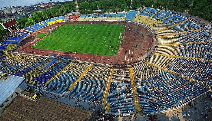Так выглядел стадион до реконструкции, фото официального сайта стадиона Черноморец
