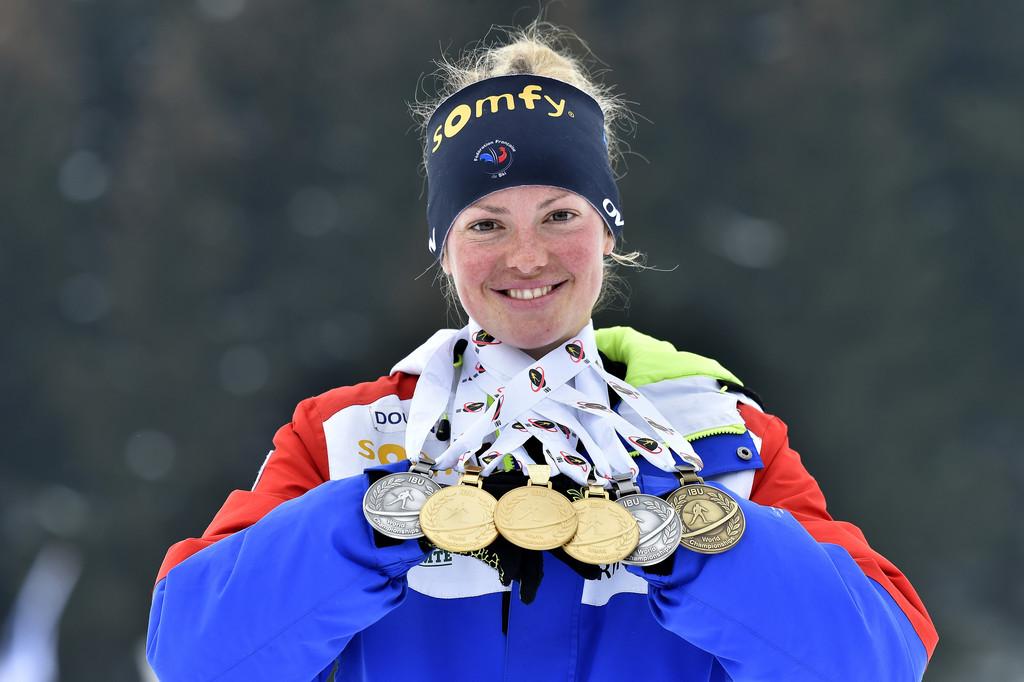 Шесть медалей Мари Дорэн Абер - лучший показатель на этом чемпионате мира, Zimbio
