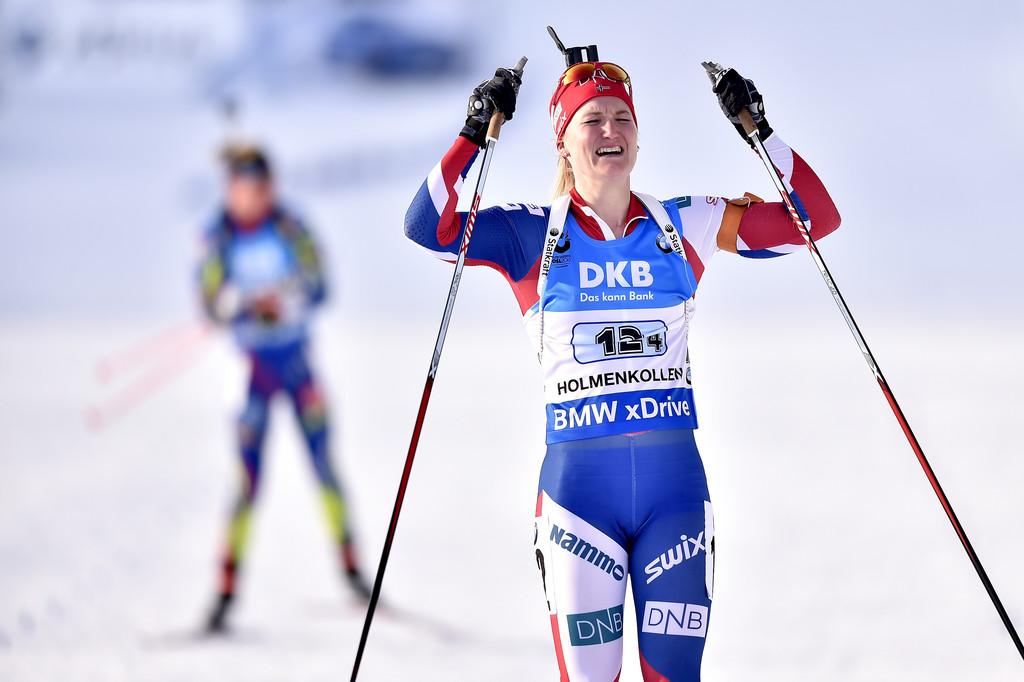 Марте Олсбу принесла женской сборной Норвегии главную победу сезона - эстафетное золото домашнего чемпионата мира, Zimbio