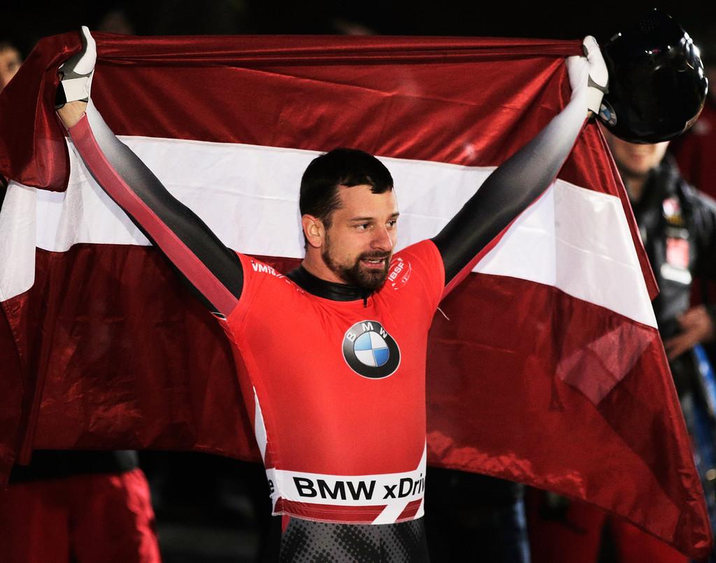 Латвиец Мартинс Дукурс в этом сезоне в четвертый раз выиграл чемпионат мира, Zimbio