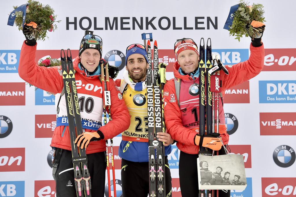 Австрийцы Доминик Ландертингер (слева) и Симон Эдер (справа) - призеры индивидуальной гонки на чемпионате мира, Zimbio