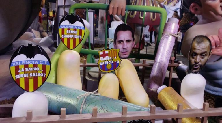 Болельщики Валенсии все помнят, Лас Фальяс, twitter.com/English_AS