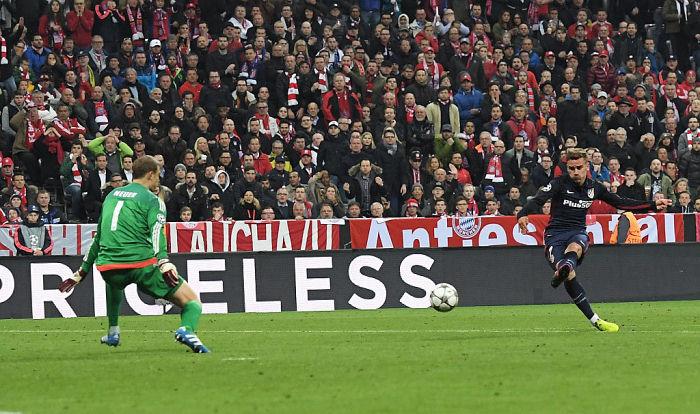 Гризманн стал лучшим бомбардиром Атлетико в Лиге чемпионов за всю историю