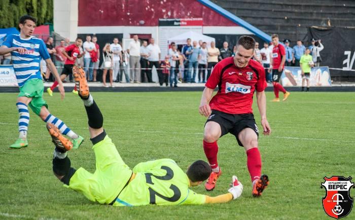 Форвард Антон Яременко в 11 турах весны успел забить 8 мячей и стать лучшим бомбардиром команды, фото facebook.com/ncvrv