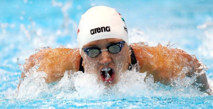 НаОлимпиаде вРио венгерская пловчиха Хоссу завоевала «золото», установив мировой рекорд
