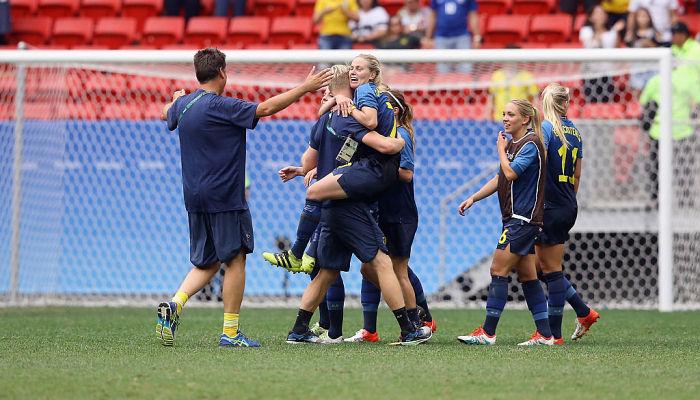 Бразильские футболистки пробились вполуфинал олимпийского турнира