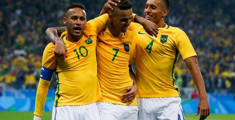 Мужская сборная Бразилии стала последним полуфиналистом турнираОИ пофутболу