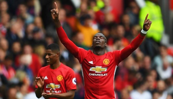 Погба забил 1-ый гол за«Манчестер Юнайтед»