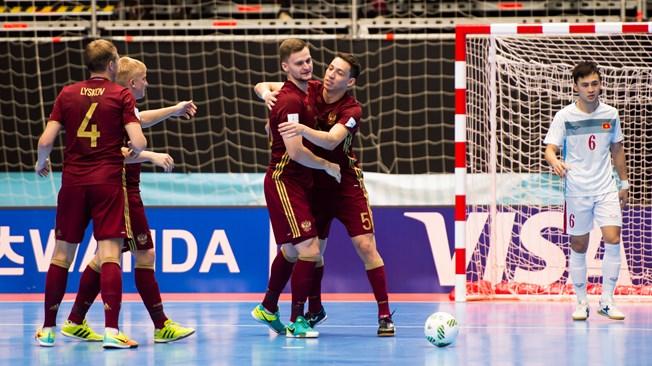 РФ одолела Вьетнам ивышла вчетвертьфинал чемпионата помини-футболу