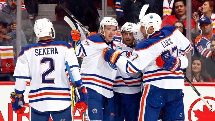 Хоккеист «Эдмонтона» Макдэвид набрал три очка вовтором матче НХЛ подряд