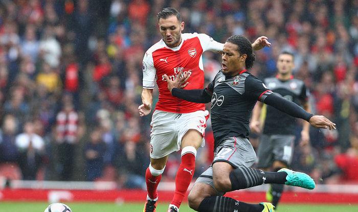 Форвард «Арсенала» Лукас Перес из-за травмы выбыл нашесть недель