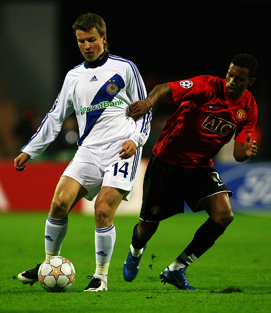 Руслан Ротань (слева) в составе Динамо против Манчестер Юнайтед в Лиге чемпионов, Getty Images