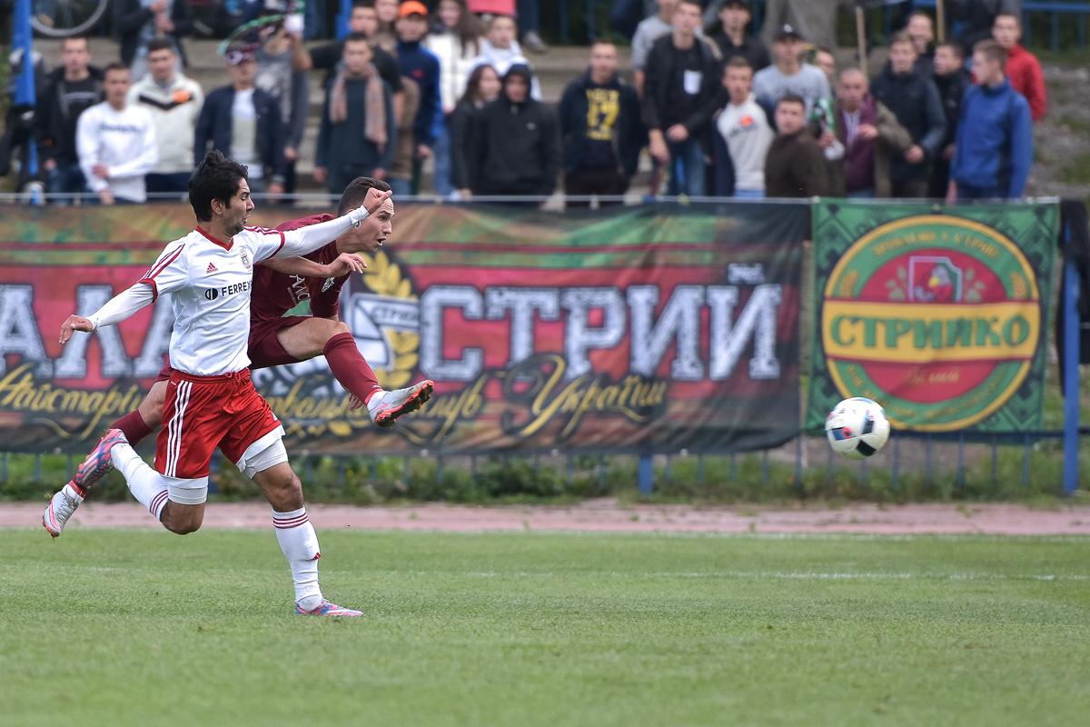 И Скакун, и Павлик в этом туре забили. В одни и те же ворота, фото Богдана Зайца, fcskala.com