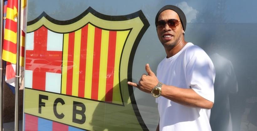 Бразилец Роналдиньо вполне может стать послом «Барселоны» вмире