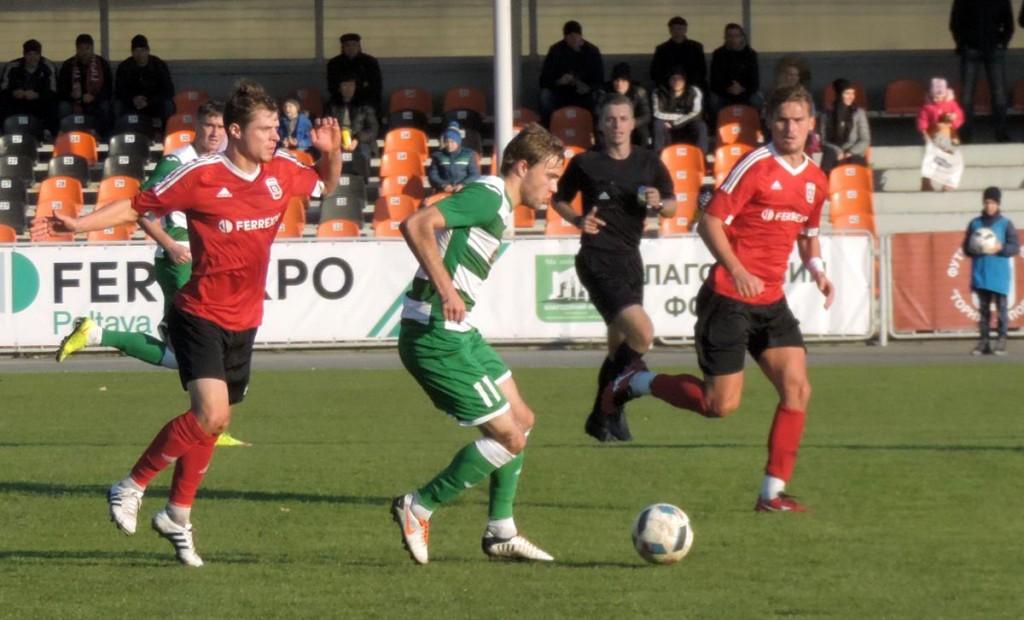 ФК Полтава впервые в сезоне получила 4 мяча в свои ворота, фото Я.Крохи