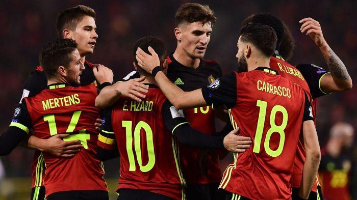 Сборная Бельгии забила восемь мячей эстонцам вотборочном матчеЧМ