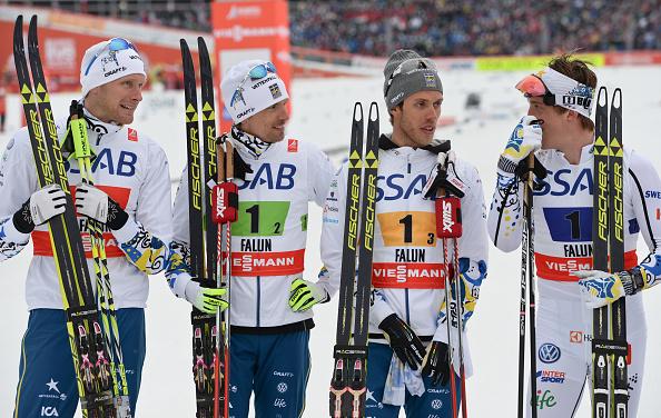 Сборная Швеции. Слева направо: Даниэль Рикардссон, Йохан Ольссон, Маркус Хелльнер и Калле Халварссон, Getty Images