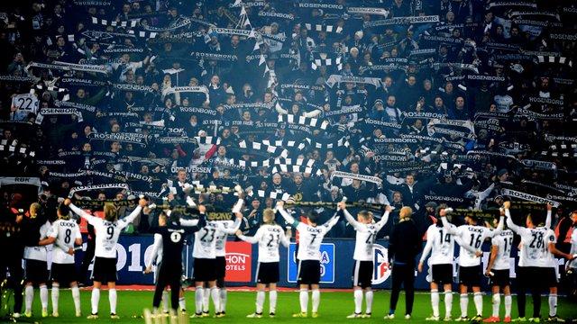 Fotball , 20. november 2016 , NM-finale menn ,Kongsvinger - Rosenborg 4-0illustrasjon , RBK , fan , fans , flagg , skjerf , tribune