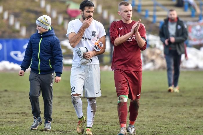 Данкович и Подоляк раньше были одноклубниками, а сейчас по разные стороны баррикад, фото Б.Зайца, fcskala.com