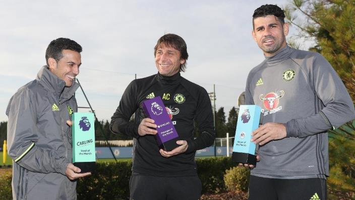 Конте признан лучшим тренером ноября вАПЛ, Коста— лучший игрок