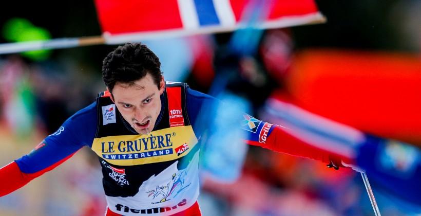 Сервисмен сборной Норвегии пробежал этап вэстафете