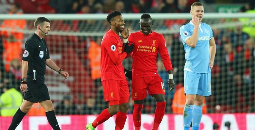 Футболисты «Ливерпуля» разгромили «Сток Сити» вматче чемпионата Британии