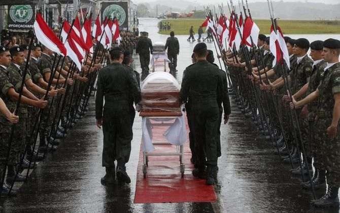 100 тыс. человек примут участие впохоронах игроков и служащих «Шапекоэнсе»