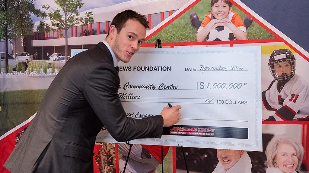 Тэйвз пожертвовал 1 млн долларов настроительство ледовой арены