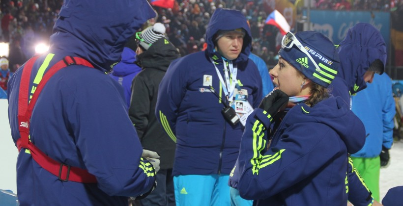 Впервой после перерыва гонке Домрачева финишировала 37-й