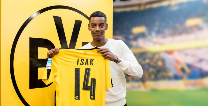 17-летний шведский форвард Исак стал игроком Боруссии Д