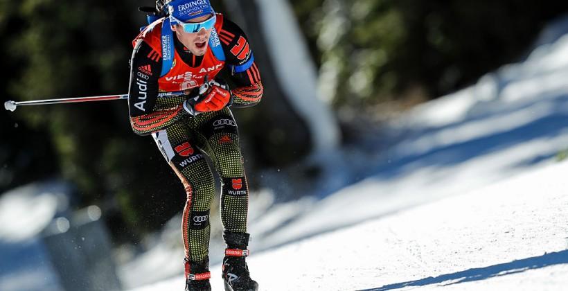 Австрийский биатлонист Эберхард одержал победу спринт наэтапе Кубка мира
