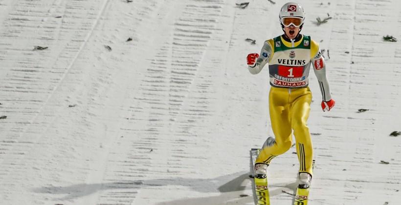 Норвежец Танде победил вовтором старте «Турне четырёх трамплинов»; Евгений Климов— 18-й