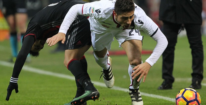 Италия, 19-й тур. Милан— Кальяри 1:0. Бакка обеспечил три очка