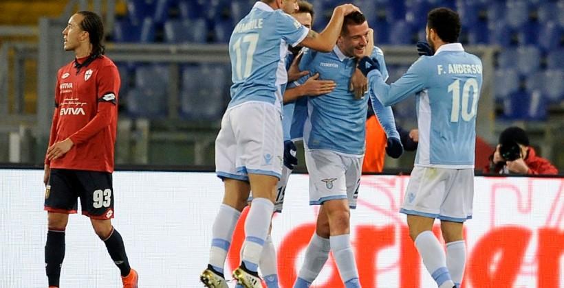Лацио перестрелял Дженоа в1/8 финала Кубка Италии