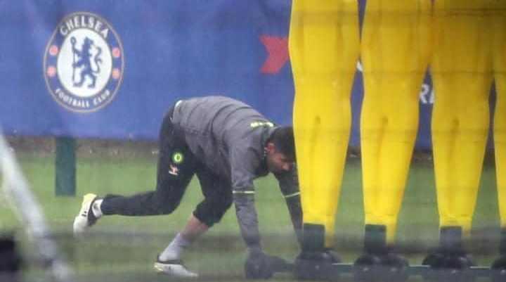 Диего Коста сегодня тренировался индивидуально набазе «Челси»