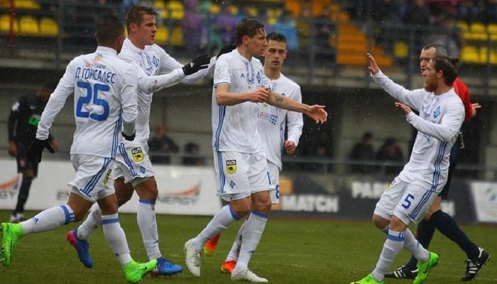 Динамо одержало волевую победу в матче с Зарей