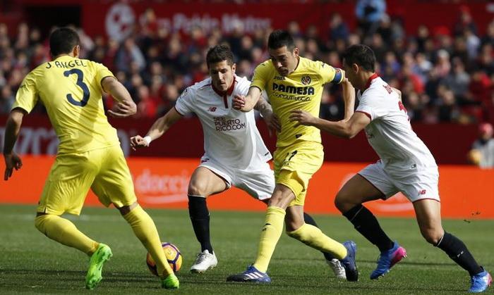 «Севилья» и«Вильярреал» сыграли вничью в21-м туре чемпионата Испании пофутболу