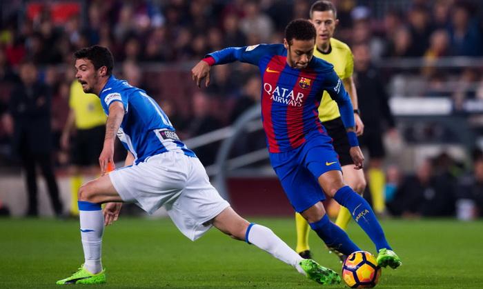 Барселона вырвала победу в концовке матча с Леганесом
