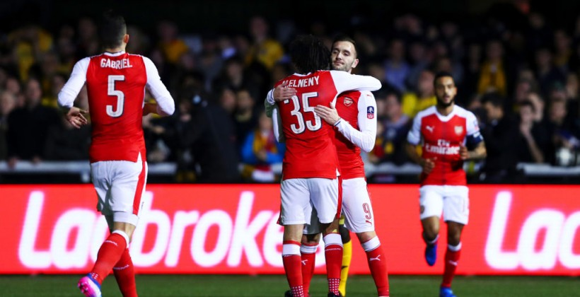 Саттон Юнайтед не приостановил Арсенал напути вчетвертьфинал Кубка Британии